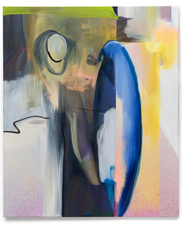 Andreas Diefenbach Schäfchen im Trockenen 2019 UV Print lacquer and oil on canvas 180 x 150 cm Guenzel