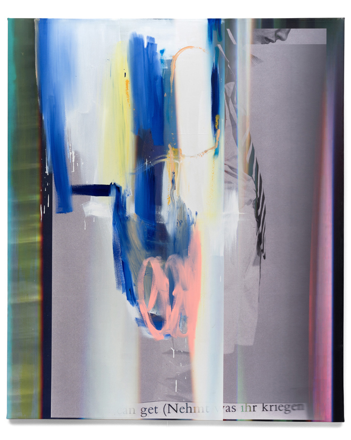 Andreas Diefenbach Eurochild 2019 UV Print lacquer and oil on canvas 180 x 150 cm Guenzel