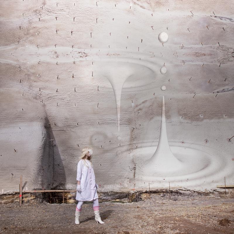 Catrine Val Der Zeit Raum als der Ab grund 2017 Acrylic on pigment print 90 x 90 cm