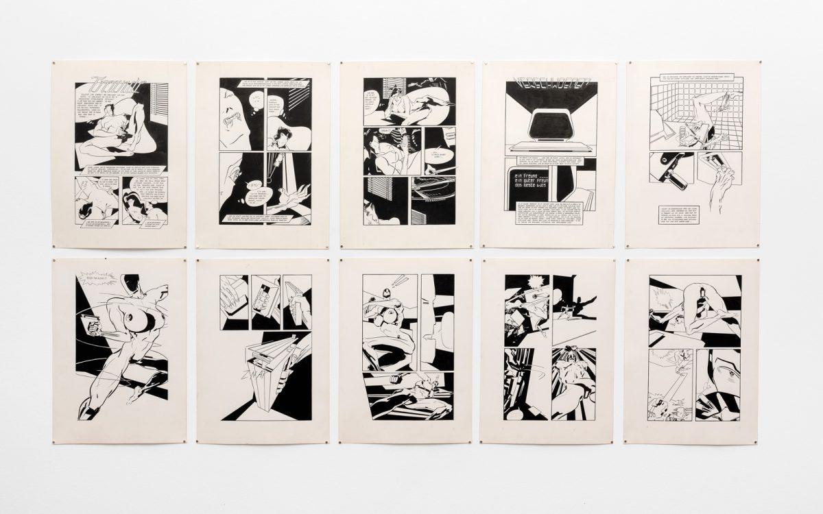 Deren Freunde Untitled 80s ink on paper each 51 x 365 cm