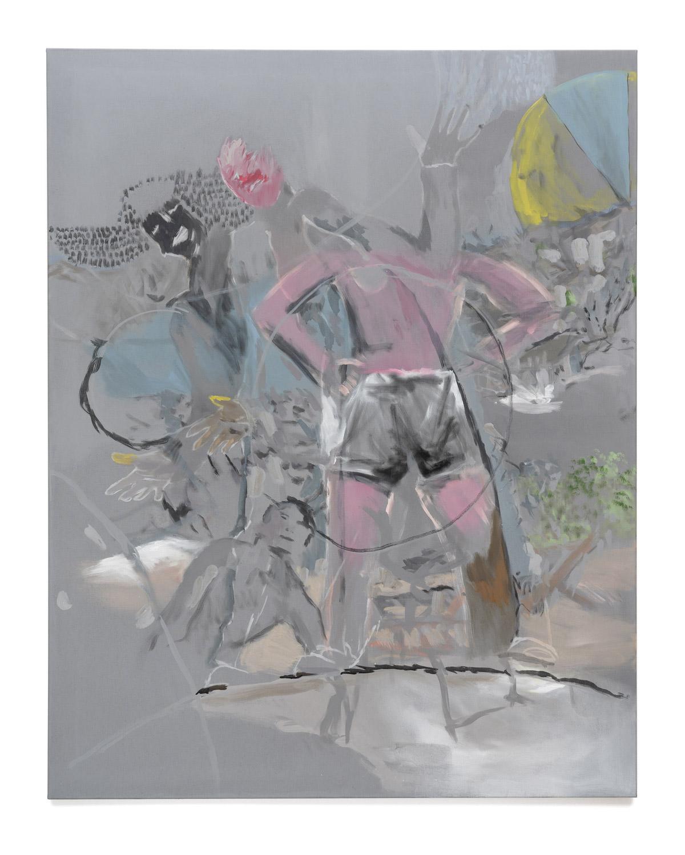 FH Martin Feldbauer Eisverkäufer am Strand Problem 2019 Acryl auf Leinen 185x145 cm 1
