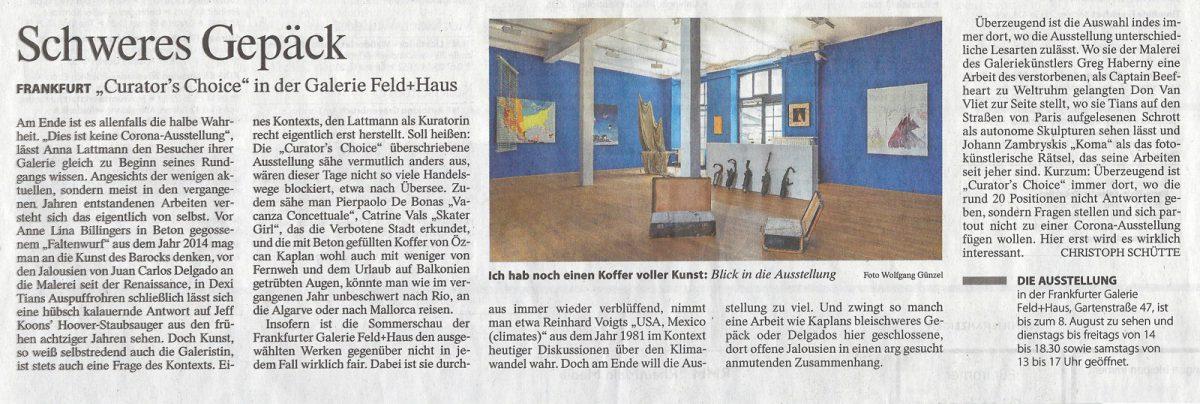 FeldHaus FAZ Schweres Gepäck July 24 No.170