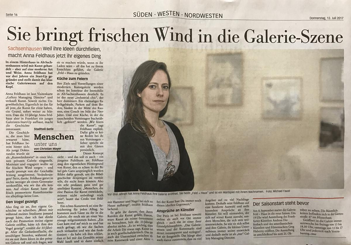 Frankfurt Neue Presse 13. Juli 2017 Nr. 160