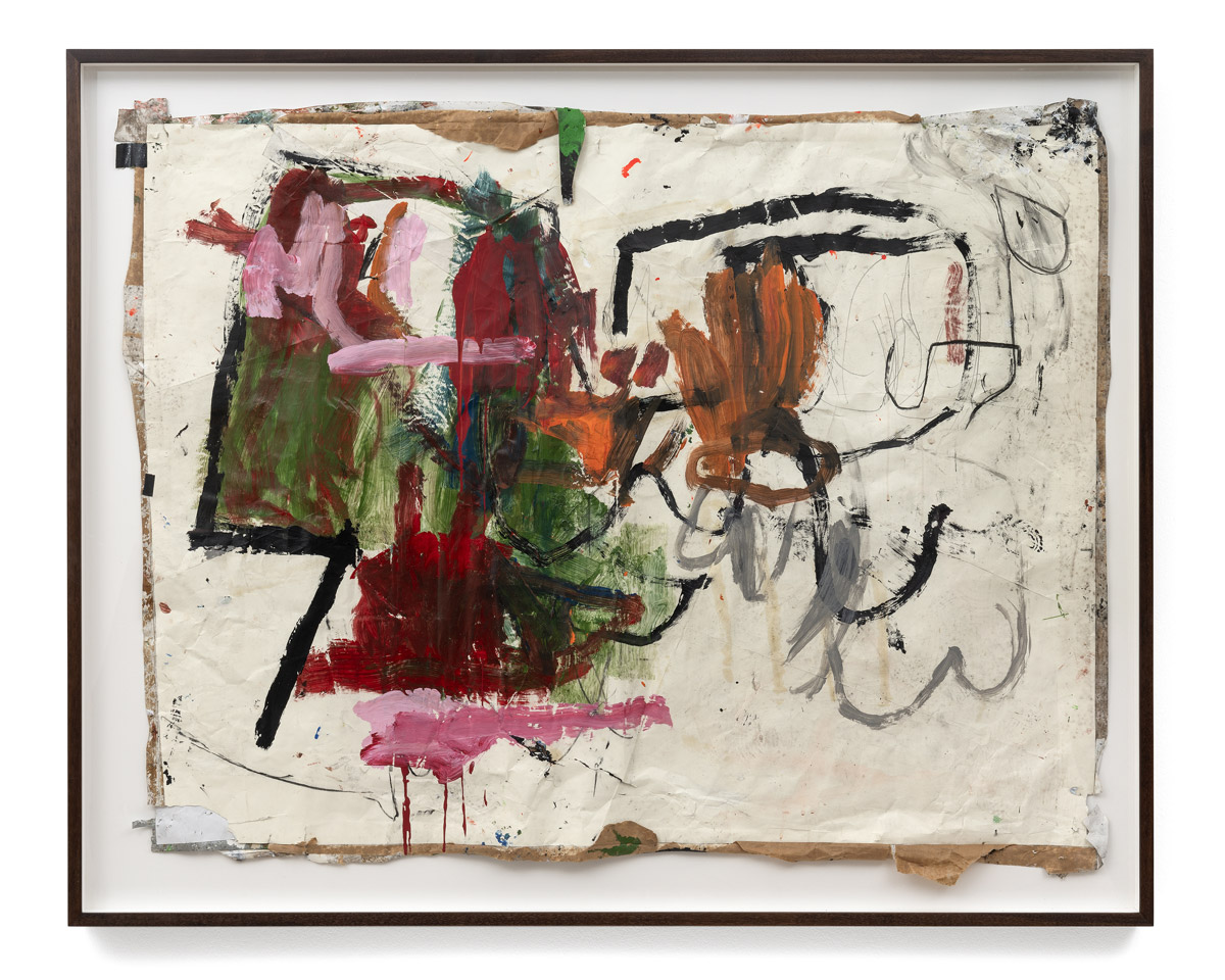 Greg Haberny Untitled 2019 mixed media on paper 128x160x6 cm 1