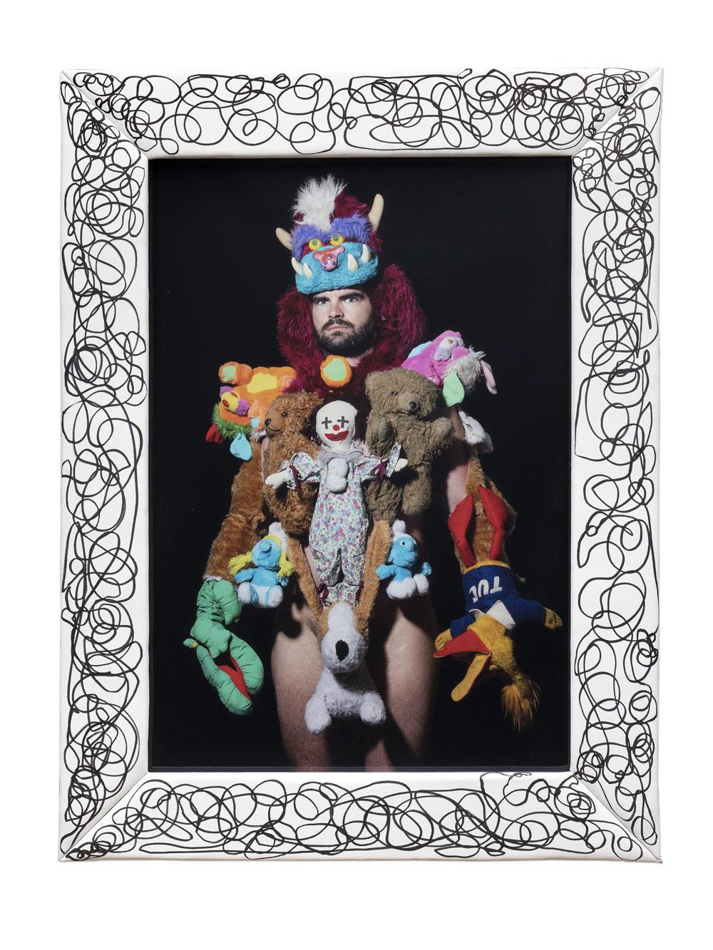 James Ostrer Finding Me Through You 2018 Digital archival print permanent marker on canvas 100 × 69 cm framed 129 5 × 965 × 5 cm Edition of 3 1 AP unique frame 1