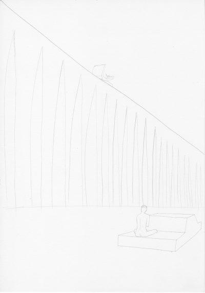 Manfred Stumpf O.T. 1983 Bleistift auf Papier 41 x 31 cm3