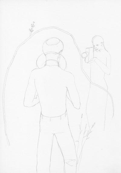 Manfred Stumpf O.T. 1983 Bleistift auf Papier 41 x 31 cm4