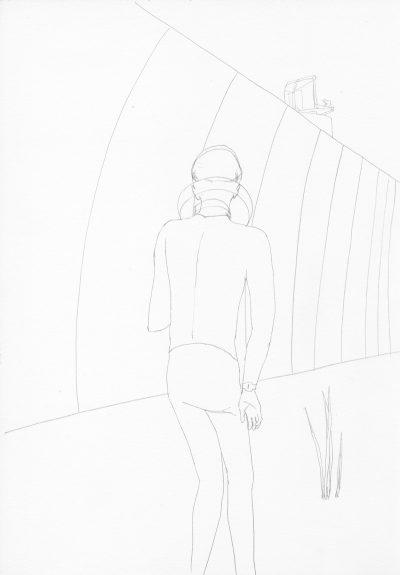 Manfred Stumpf O.T. 1983 Bleistift auf Papier 41 x 31 cm5