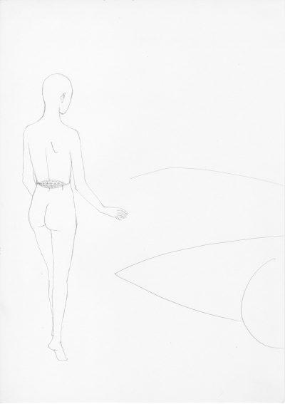 Manfred Stumpf O.T. 1983 Bleistift auf Papier 41 x 31 cm6