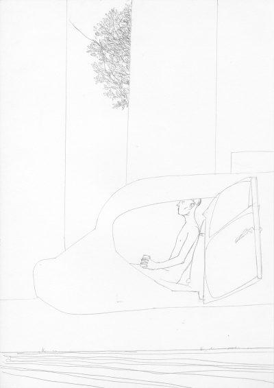 Manfred Stumpf O.T. 1983 Bleistift auf Papier 41 x 31 cm7