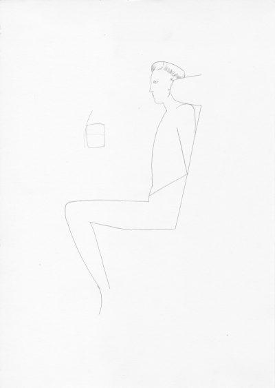 Manfred Stumpf O.T. 1983 Bleistift auf Papier 41 x 31 cm9