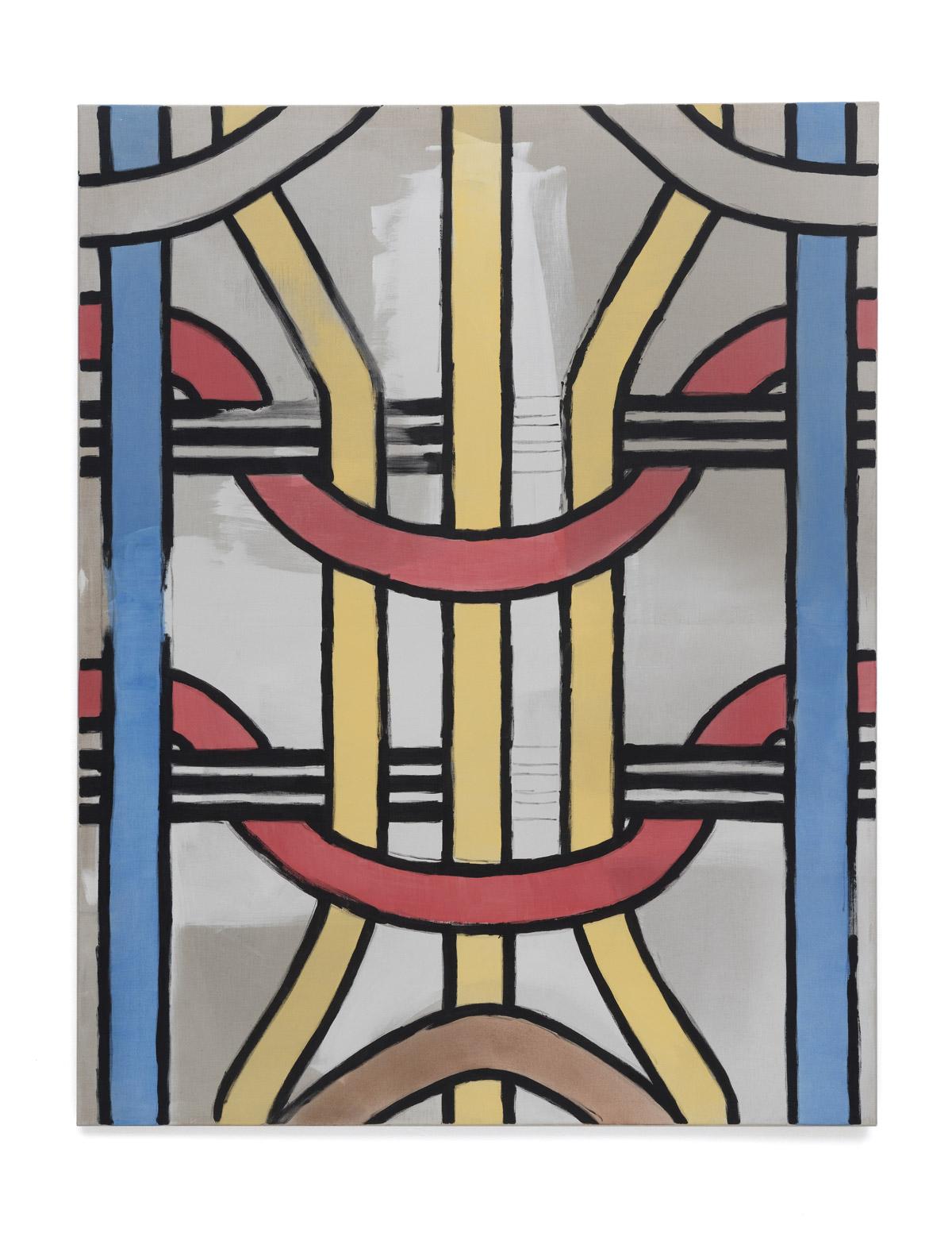 Martin Feldbauer Underdog III 2018 acrylic on linen 185x145 cm