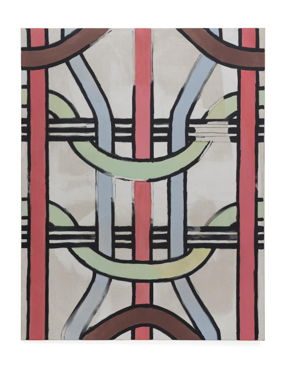 Martin Feldbauer Underdog II 2018 acrylic on linen 185x145 cm