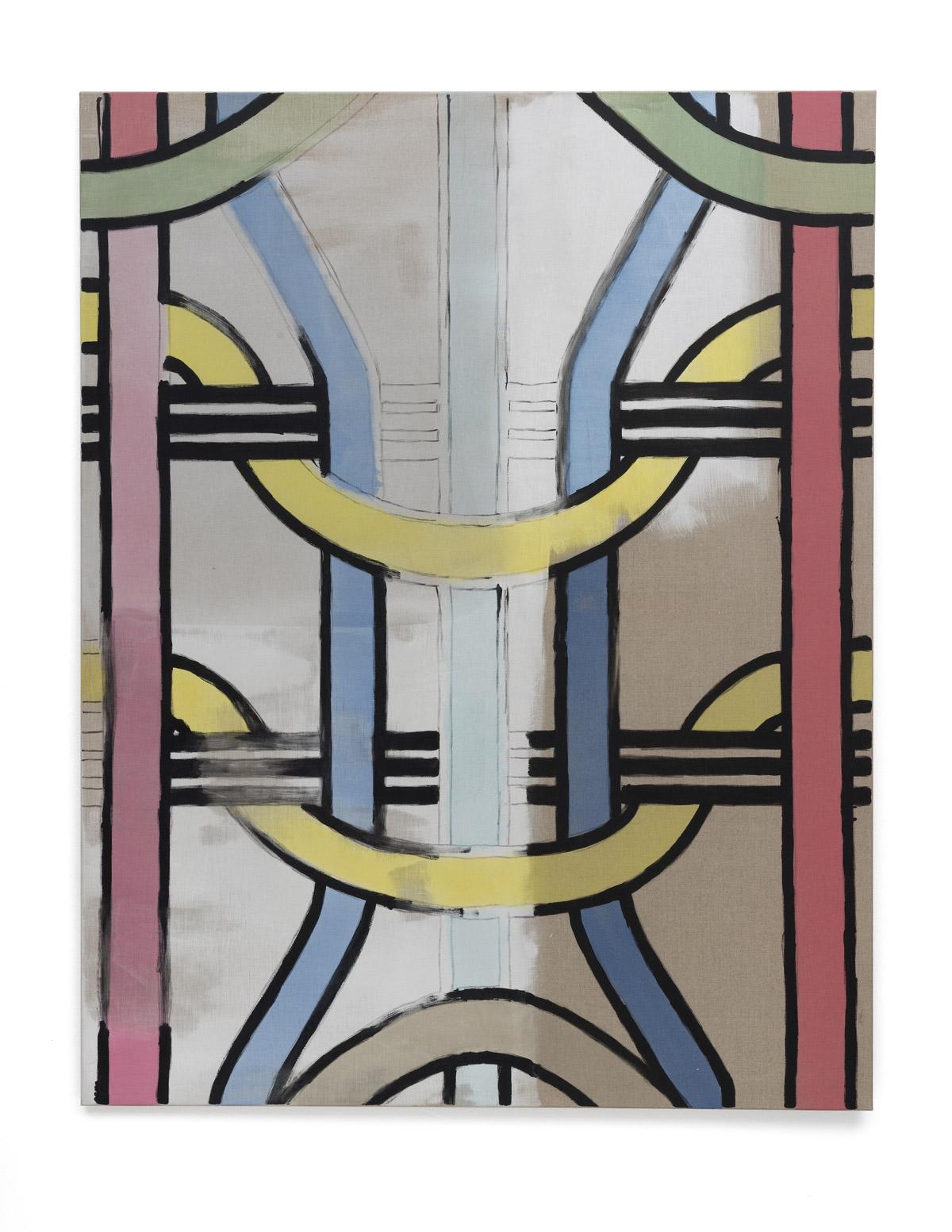 Martin Feldbauer Underdog IV 2018 acrylic on linen 185x145 cm