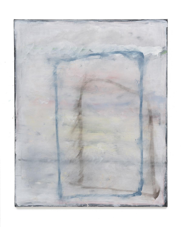 Özcan Kaplan Ohne Titel 2014 No. 4 oil on untreated cotton 110 x 90 cm
