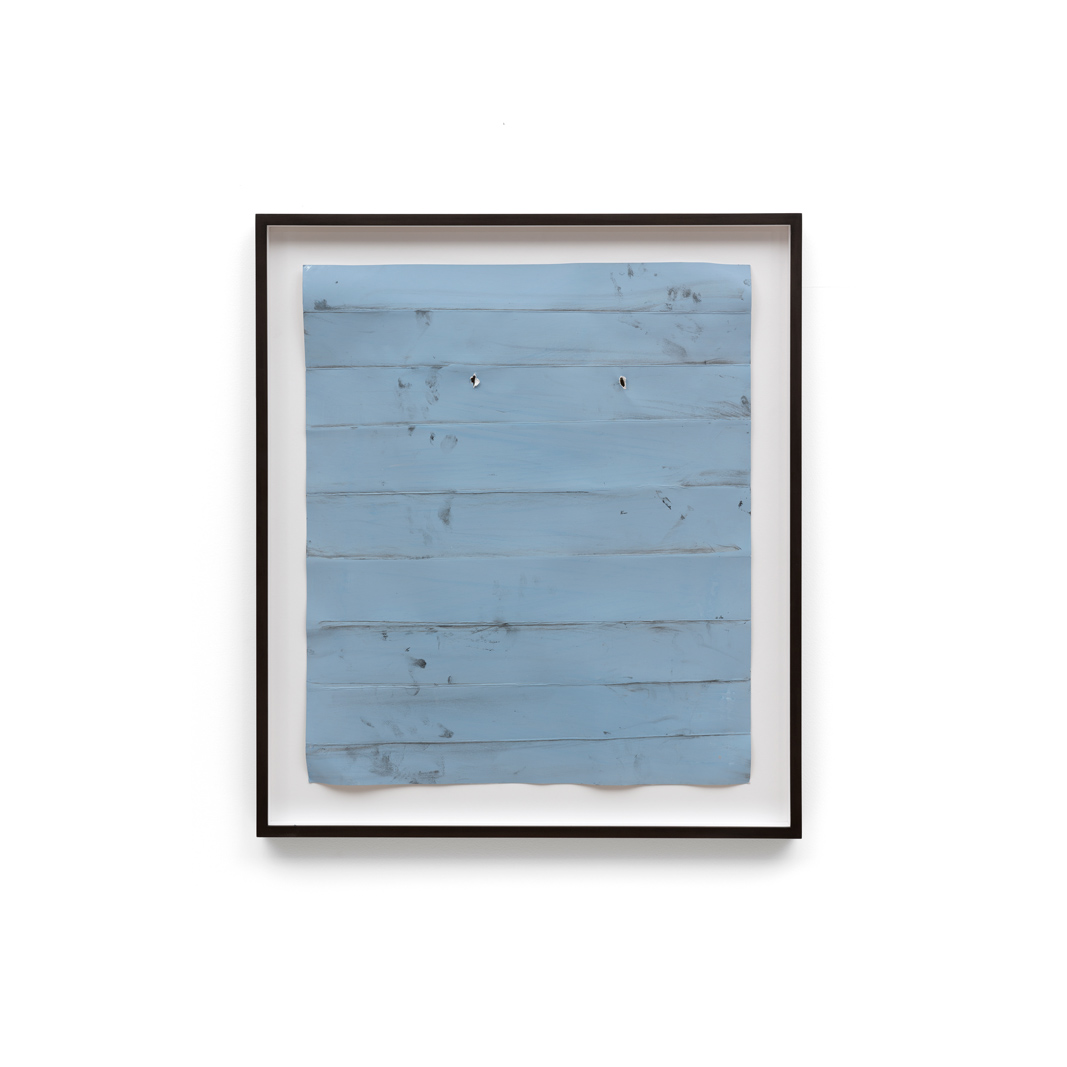 Özcan Kaplan Papierarbeit blau 3 Januar 2018