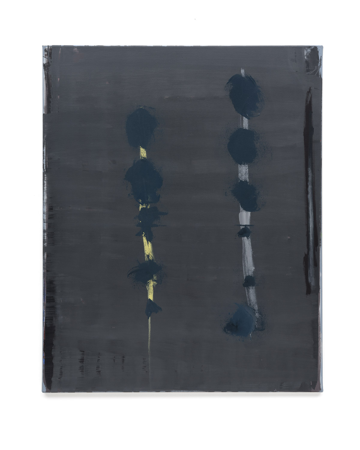 Özcan Kaplan Untitled 2018 No.6 Oil on untreated cotton 110 x 90 cm 1