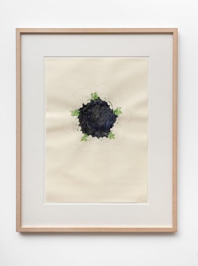 Steffi Hartel Untitled 1992 1993 pencil watercolor and tempera on paper 48 x 34 cm 675 x 535 cm framed 7