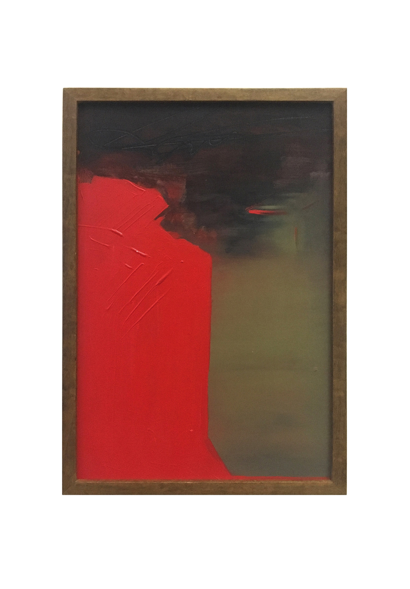 Veronica Madanes Estilo Nuevo Terror Eterno 2018 Arcylic on hardboard 30 x 20 cm framed 1